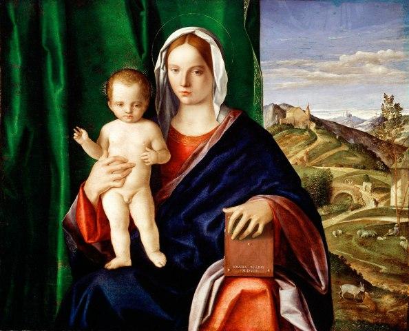 Madonna and Child, Giovanni Bellini, 1508, oil on panel.