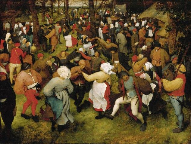 The Wedding Dance, Pieter Bruegel the Elder, c. 1566, oil on oak panel.