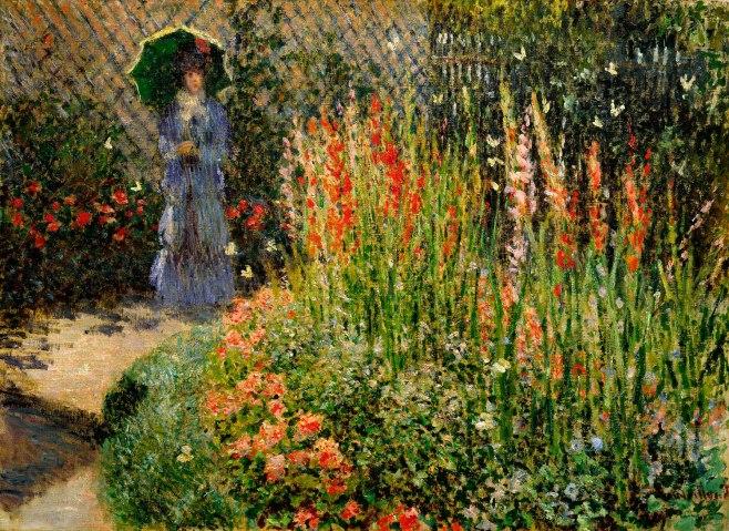 Gladioli, Claude Monet, ca. 1876, oil on canvas.