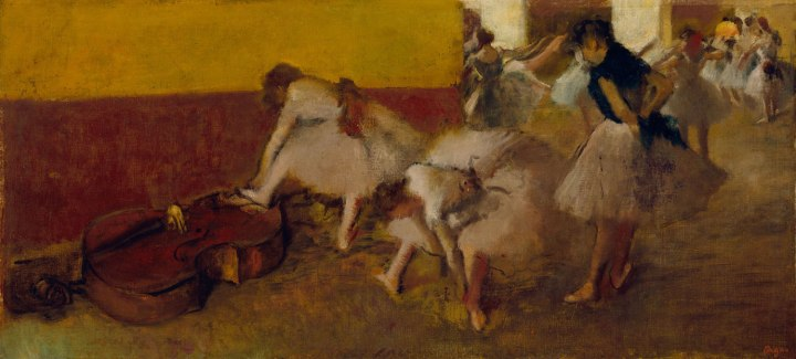 Dancers in the Green Room, Edgar Degas, c. 1879, oil on canvas.