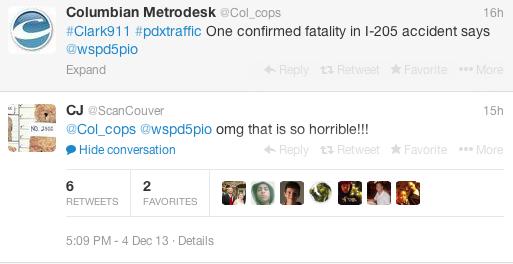 tweet car accident death 2