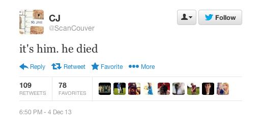 twitter live tweet death