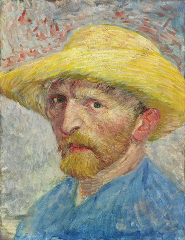 Self-Portrait, Vincent van Gogh, 1887, oil on artist board, mounted to wood panel.