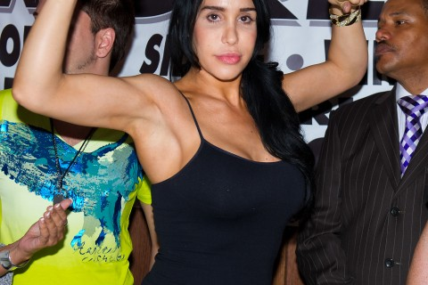Octomom Nadya Suleman And Shila From The Chio Morning Show Celebrity Pillow Fight Press Conference And Weigh In