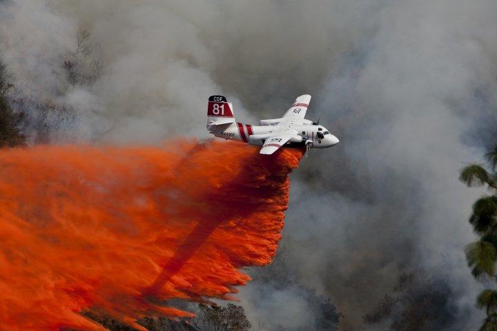 The Colby Fire burns near Glendora, Calif., January 16, 2014.