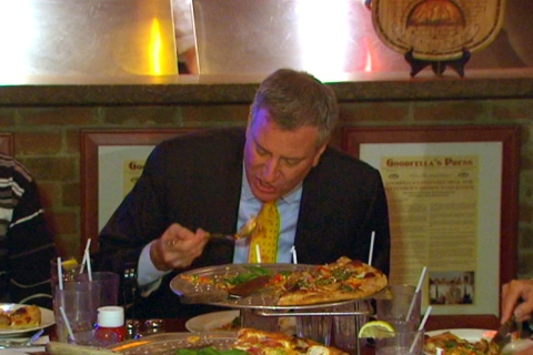 Bill de Blasio Pizza Goodfellas