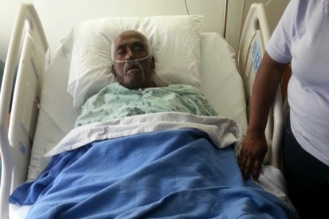 Walter Williams in the hospital.
