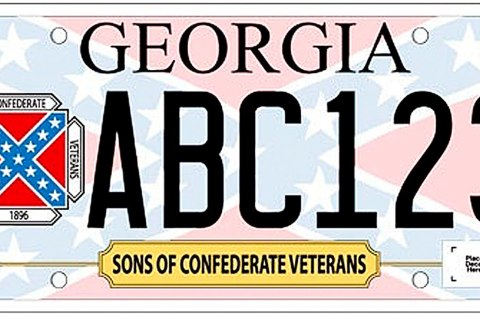 Confederate Flag License Plate Georgia