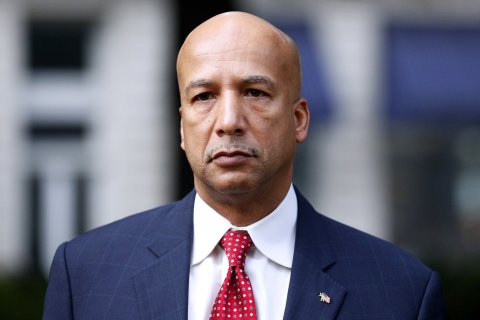 Former New Orleans Mayor Ray Nagin arrives at the Hale Boggs Federal Building in New Orleans on Jan. 27, 2014.